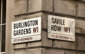 Street sign for Savile Row
