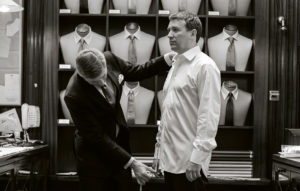 Bespoke suit fitting in Savile Row