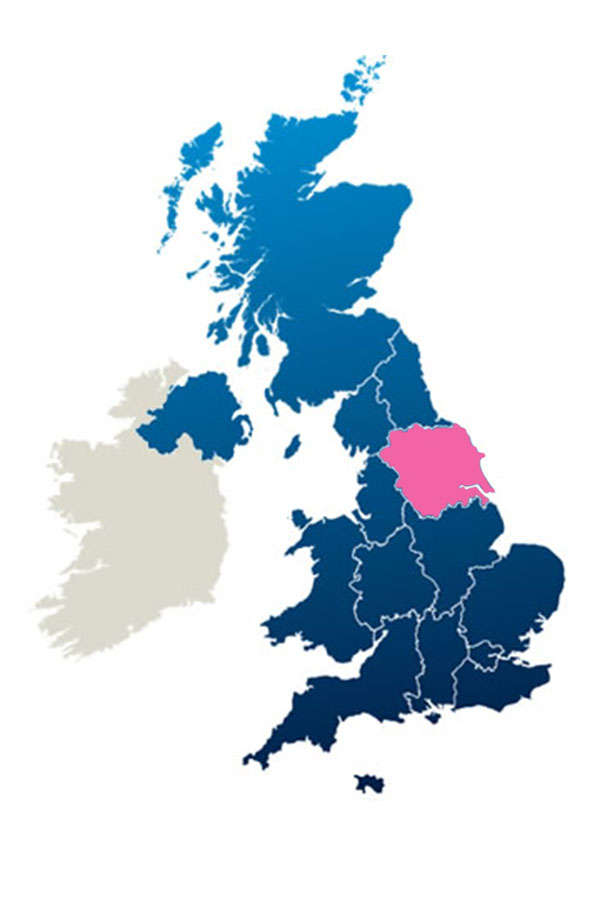 Map Yorkshire British Guild Of Tourist Guides