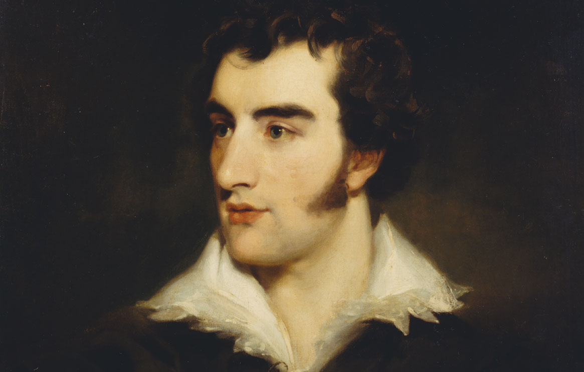 A painting of the face of Robert Liston