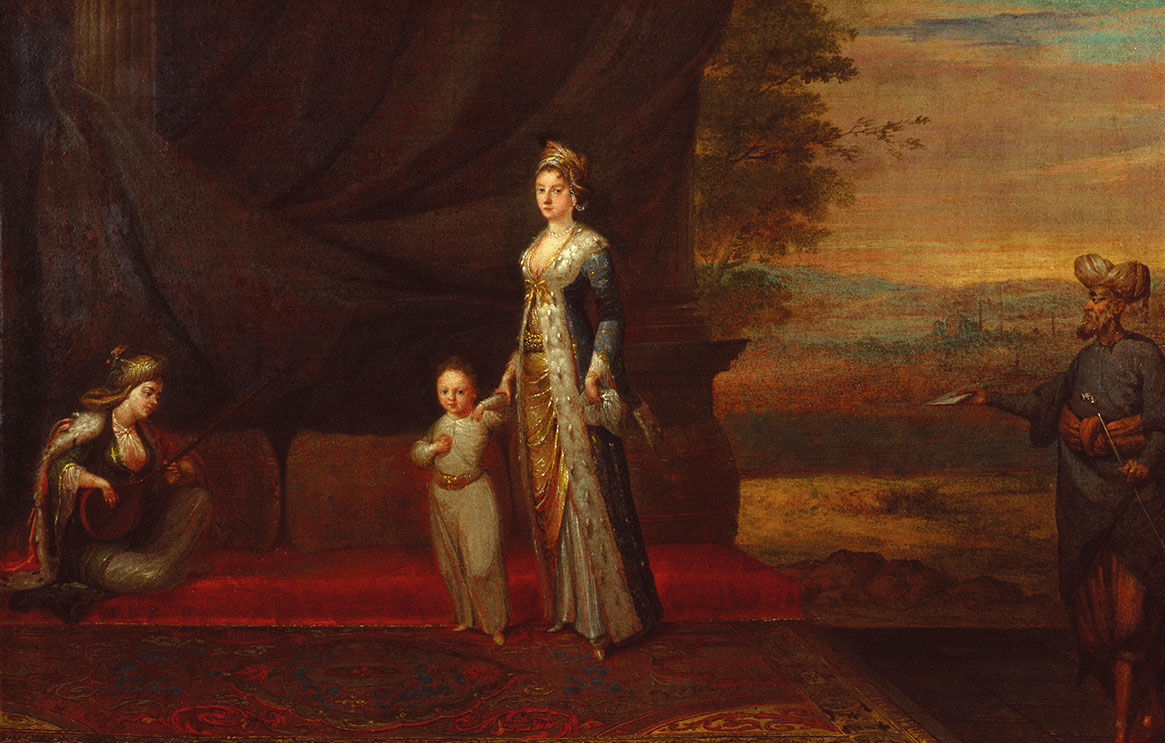 A painting of Lady Mary Wortley Montagu with her son