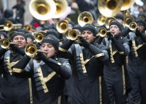 Trumpet players at London New Years Day Parade
