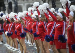 Cheerleaders at London's New Years Day Parade
