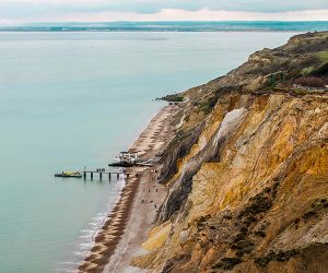 Cliff edge on the Isle of Wight