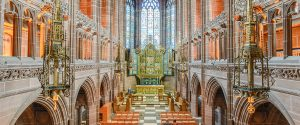 Inside the Anglican Cathedral in Liverpool