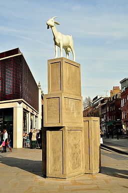 I Goat, sculpture, Spitalfields, London