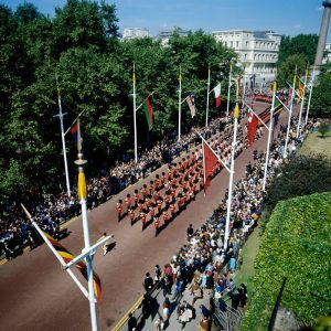 The Trooping of the Colour, 1973, Horseguards, London
