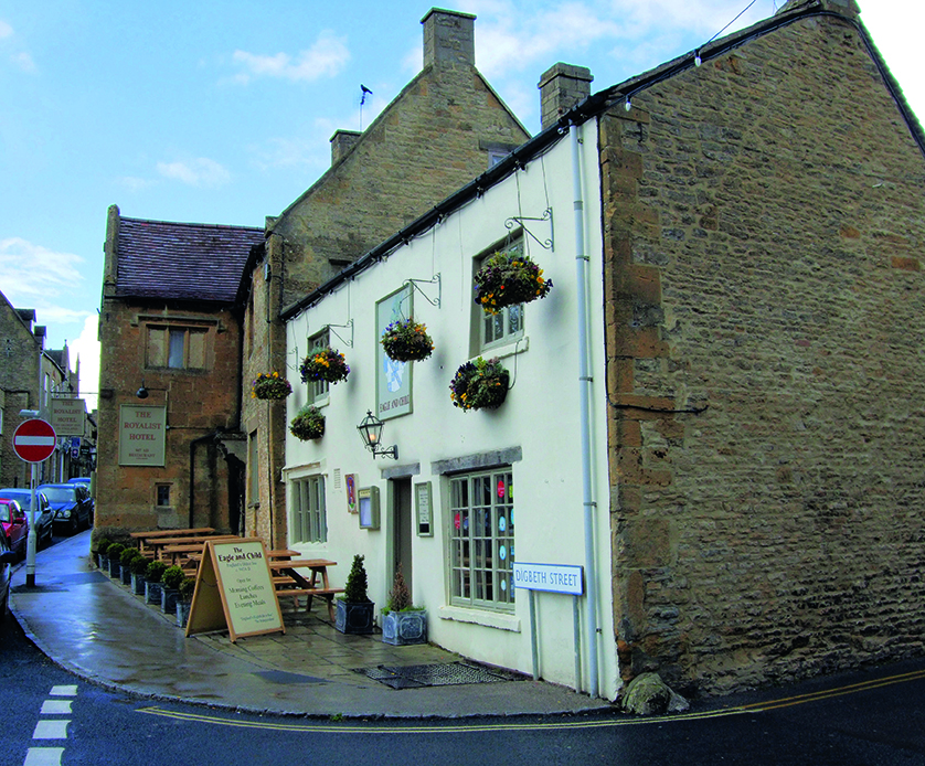 The Eagle and Child pub in Stow-on-the-Wold
