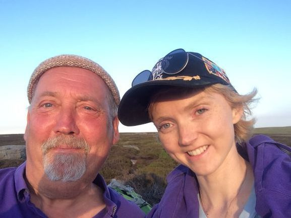 Blue Badge Guide Johnnie Briggs with the film maker, writer and actress Lily Cole