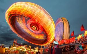 Fairground by night