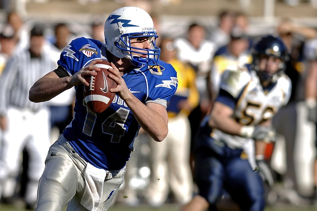 Quarterback playing American Football