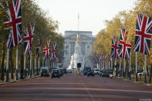 The Mall heading towards Buckingham Palace, London