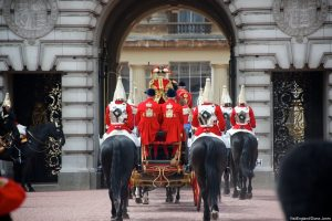 The Life Guards at the State Opening of Parliament 2013: procession from