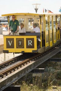 The Volks Railway, which runs along Brighton's seafront