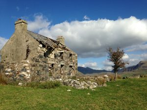 A stone house in Snowdonia National Park
