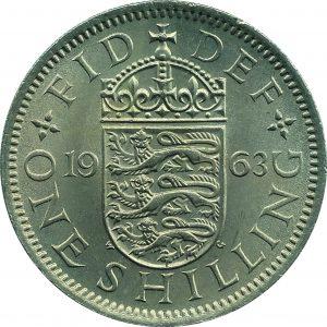 British shilling 1963