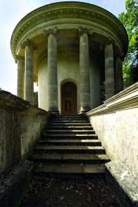 The Temple of Ancient Virtue at Stowe Landscape Gardens, Buckinghamshire.