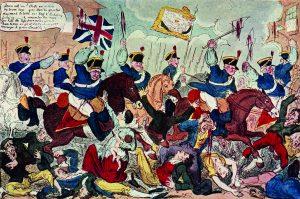 The Massacre of Peterloo, George Cruikshank
