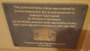 Stan Laurel plaque at Ulverston