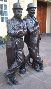 Laurel and Hardy statue at Ulverston