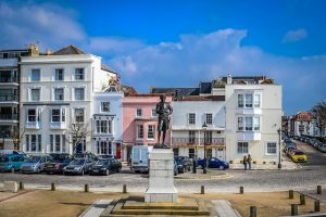 Nelson statue in Portsmouth, Spice Island