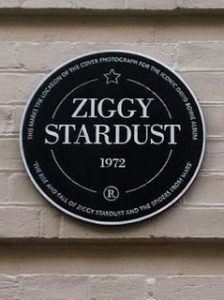 Ziggy Stardust plaque - Bowie