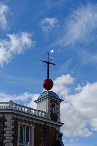The red ball at the top of Greenwich Observatory