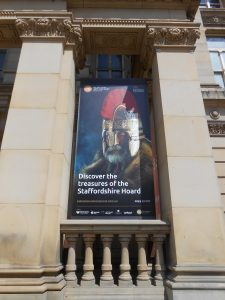 Poster outside Birmingham Museum and Art Gallery