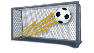 goal keepers net with football