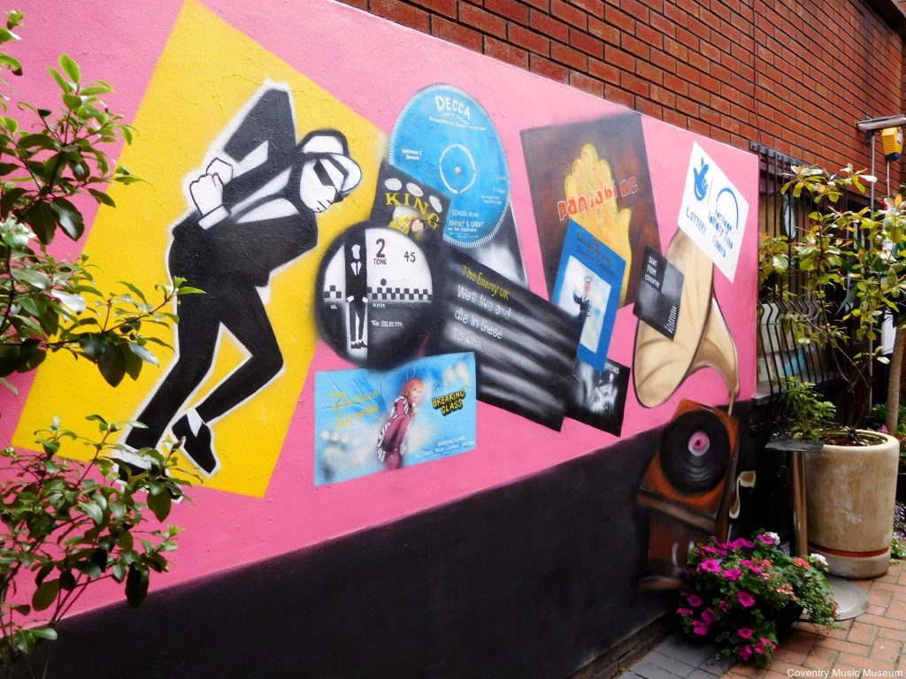 Mural at 2-Tone Village, Coventry Music Museum, Coventry