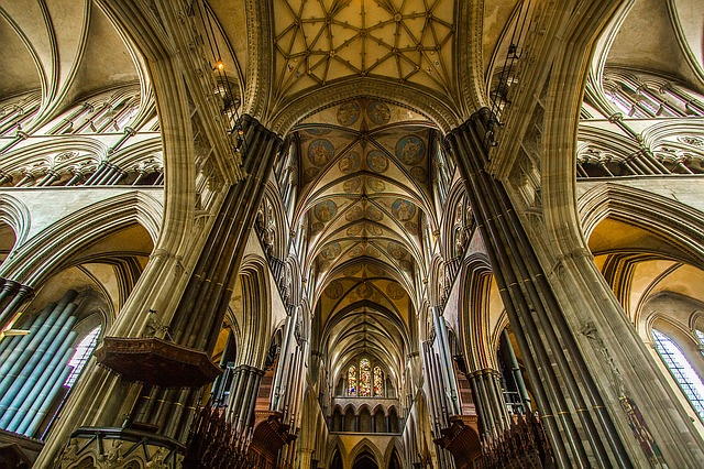 The interior of Salisbury Cathedral