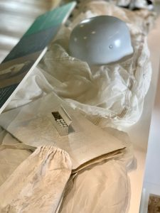 The snow smock, parachute and helmet of executed spy Josef Jakobs is on display at the Tower of London.