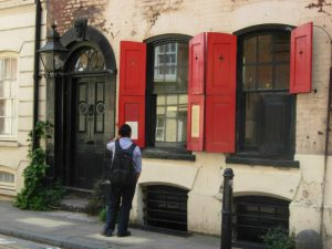 Outside of 18 Folgate Street in London