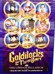 Pantomime poster for the London Palladium