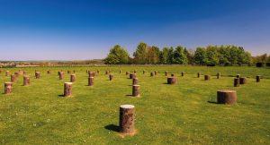 Ancient monument Woodhenge, near Stonehenge