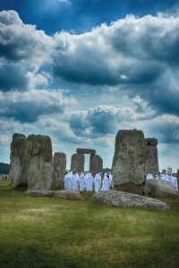 Modern day druids at Stonehenge