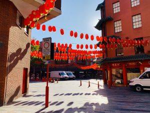 Gerrard Street: Chinese lanterns London