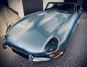 E-Type Concept Zero - an electric modification of the classic 1960s Jaguar E-Type, as used by the Duke and Duchess of Sussex on their wedding day in May 2018.