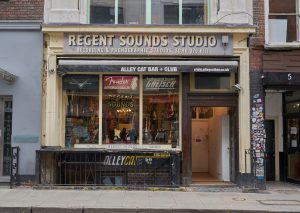 Shop front of Regent sound studios
