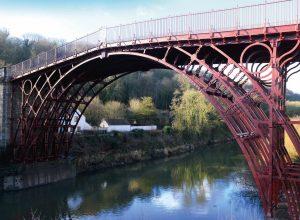 The restored Iron Bridge over the River Severn