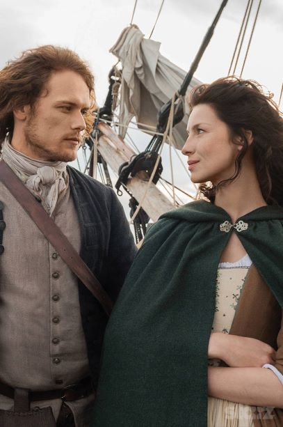 Man and woman from Outlander