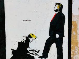 Trump and Boris street art