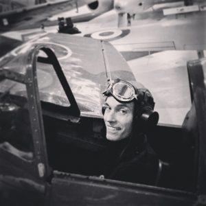 man in plane - royal airforce museum
