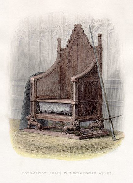 Drawing of the Coronation Chair