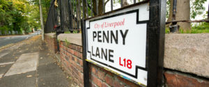 Penny Lane street sign Liverpool