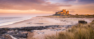 Bamburgh Castle from a distance