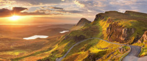 The Highlands by sunset Scotland