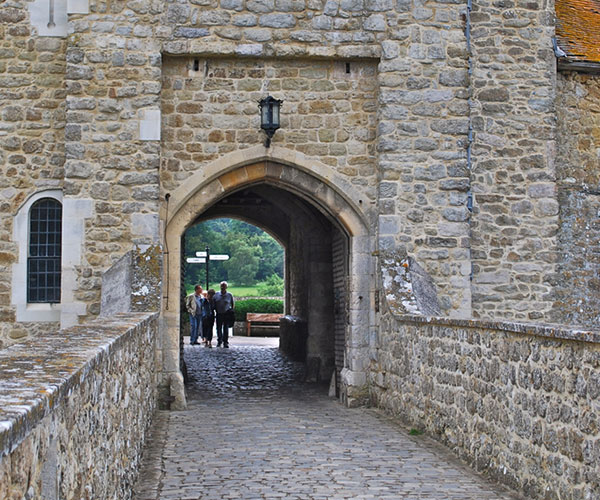 An entrance to Leeds Castle