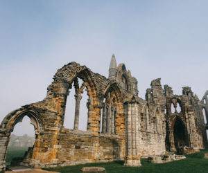 A section of Whitby Abbey