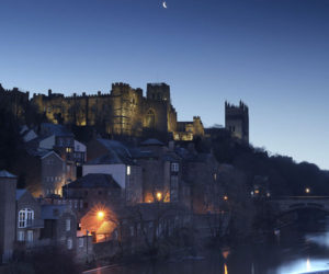 Durham Castle and Cathedral by night